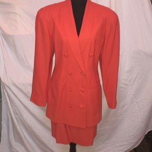 Adorable coral skirt suit set